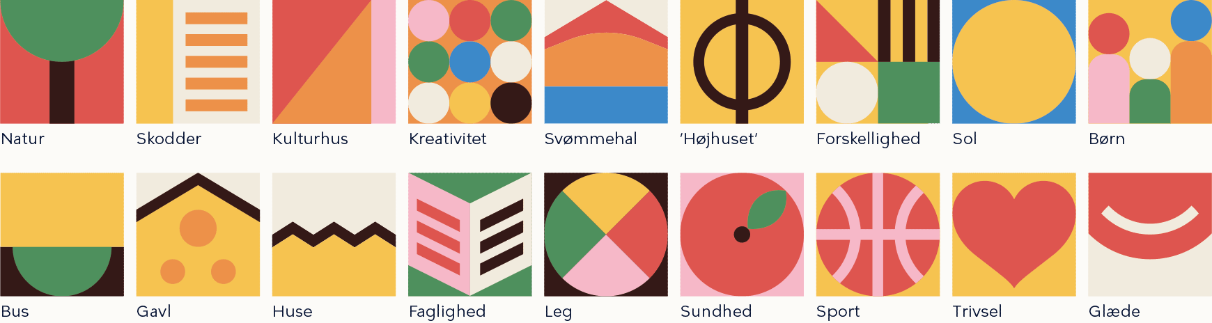 Ikoner til Tingbjerg designguide