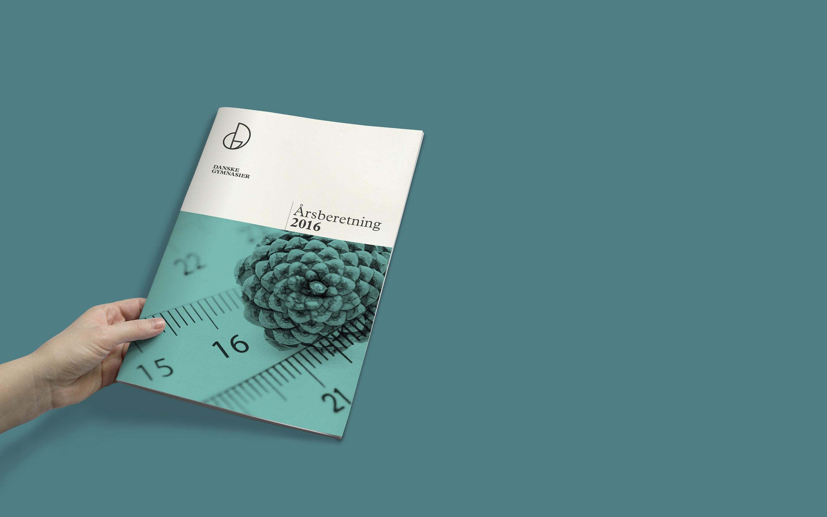 Eksempel på design af tryksager for Danske Gymnasier