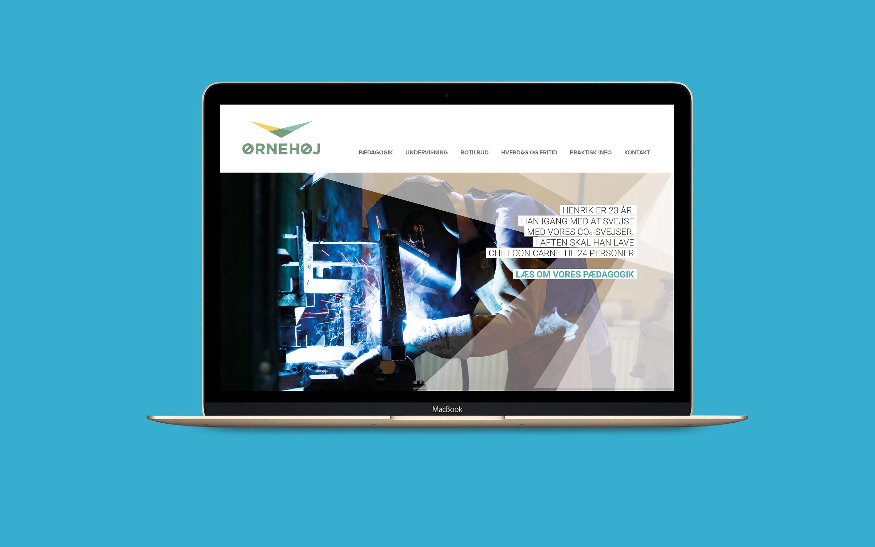 Webdesign til Ørnehøj som del af designmanual