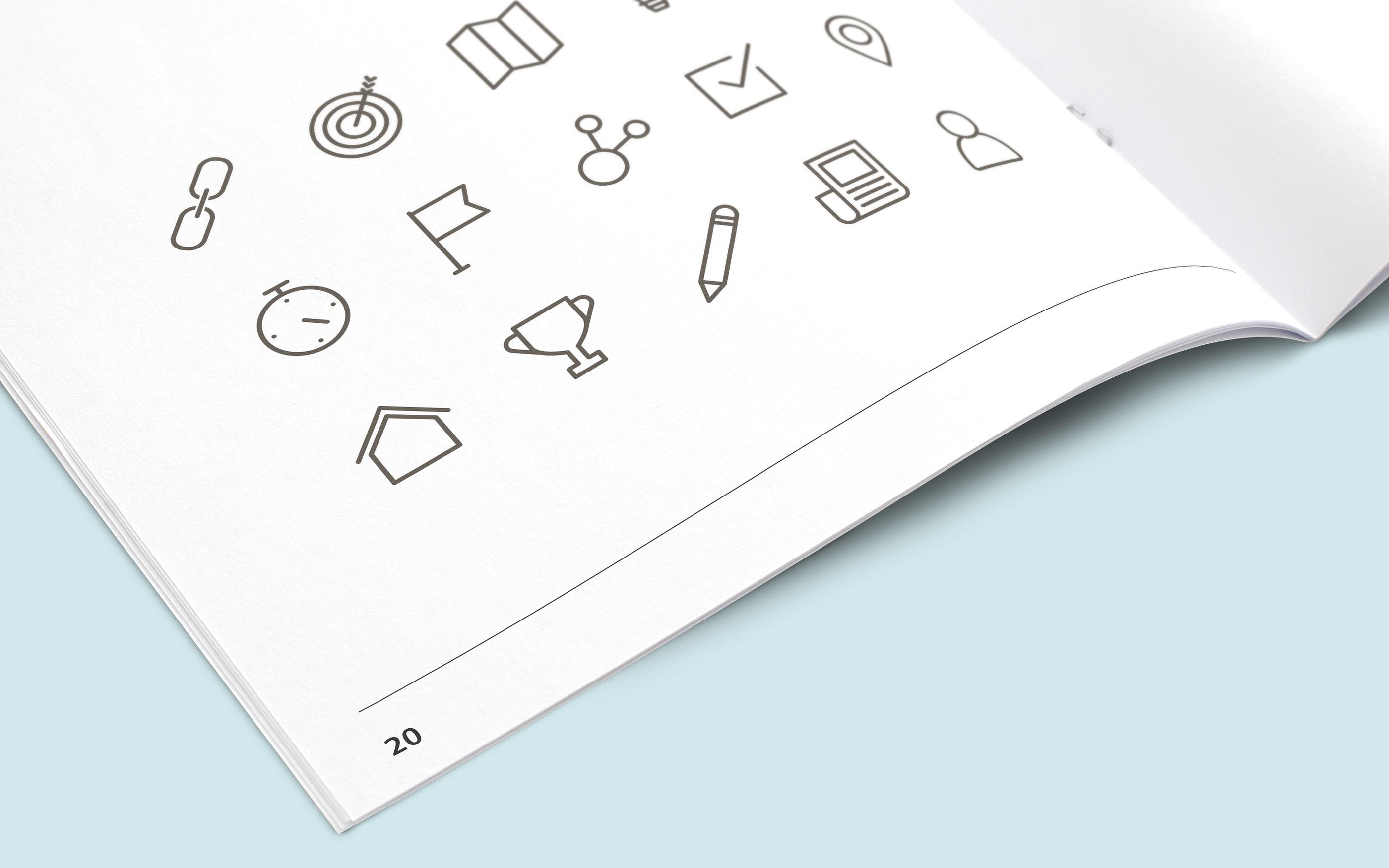 Ikoner som del af visuel identitet for Via Trafik