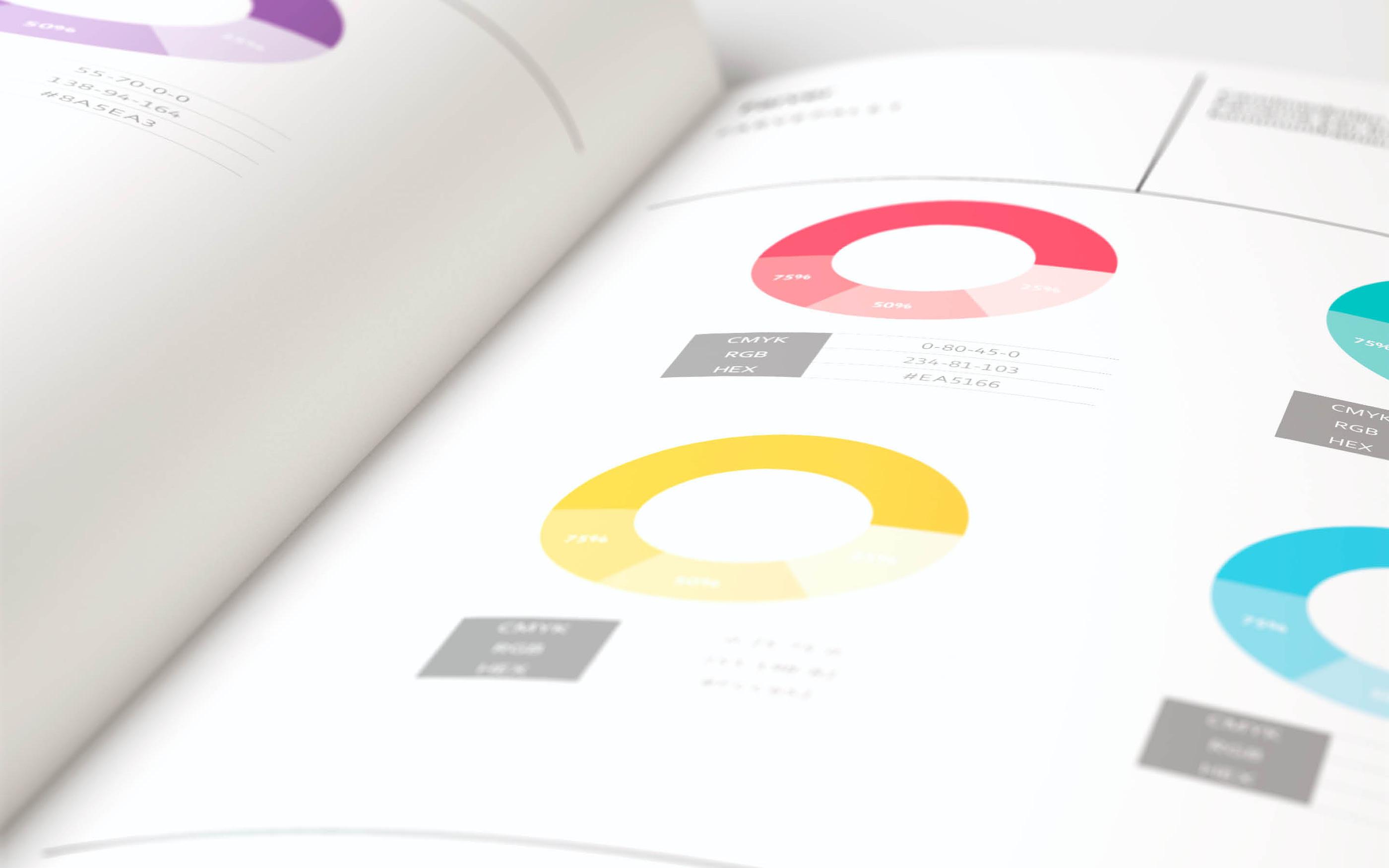 Farver er en del af designmanualen for Carolineskolen