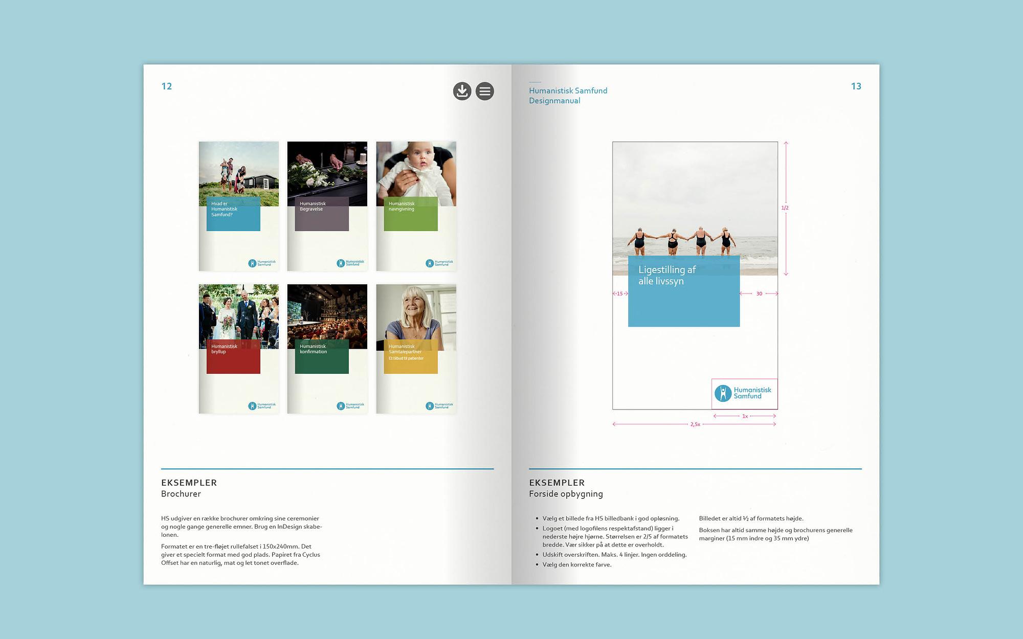 Opslag fra designmanual for Humanistisk Samfund