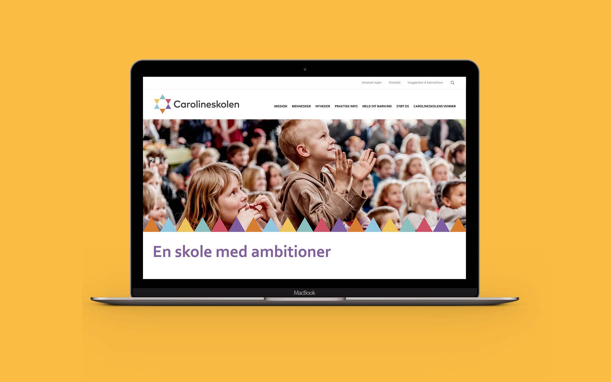 Webdesign til Carolineskolen som en del af designmanual