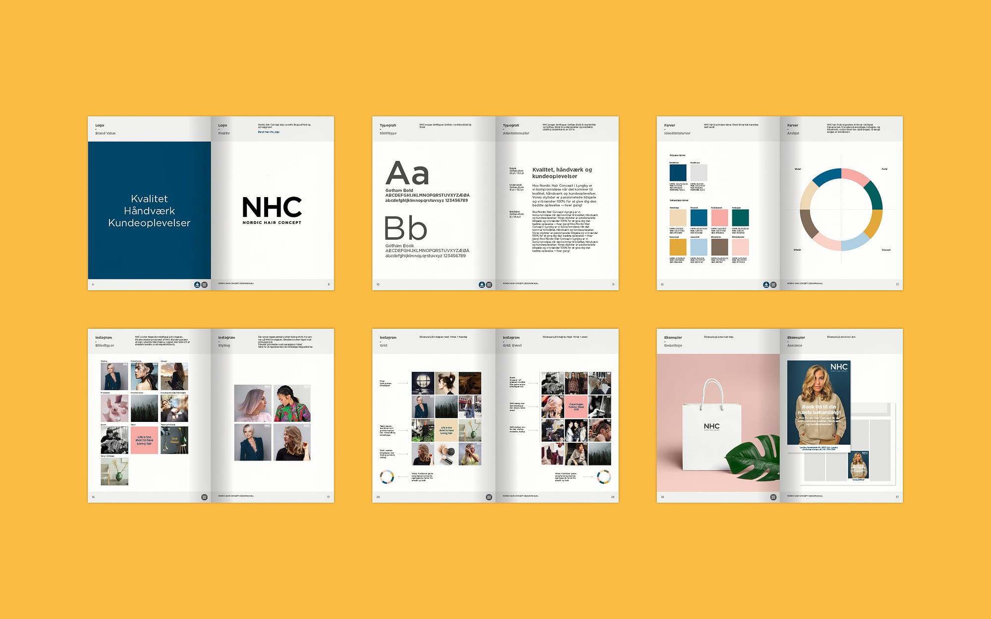 Social media visuel identitet til NHC