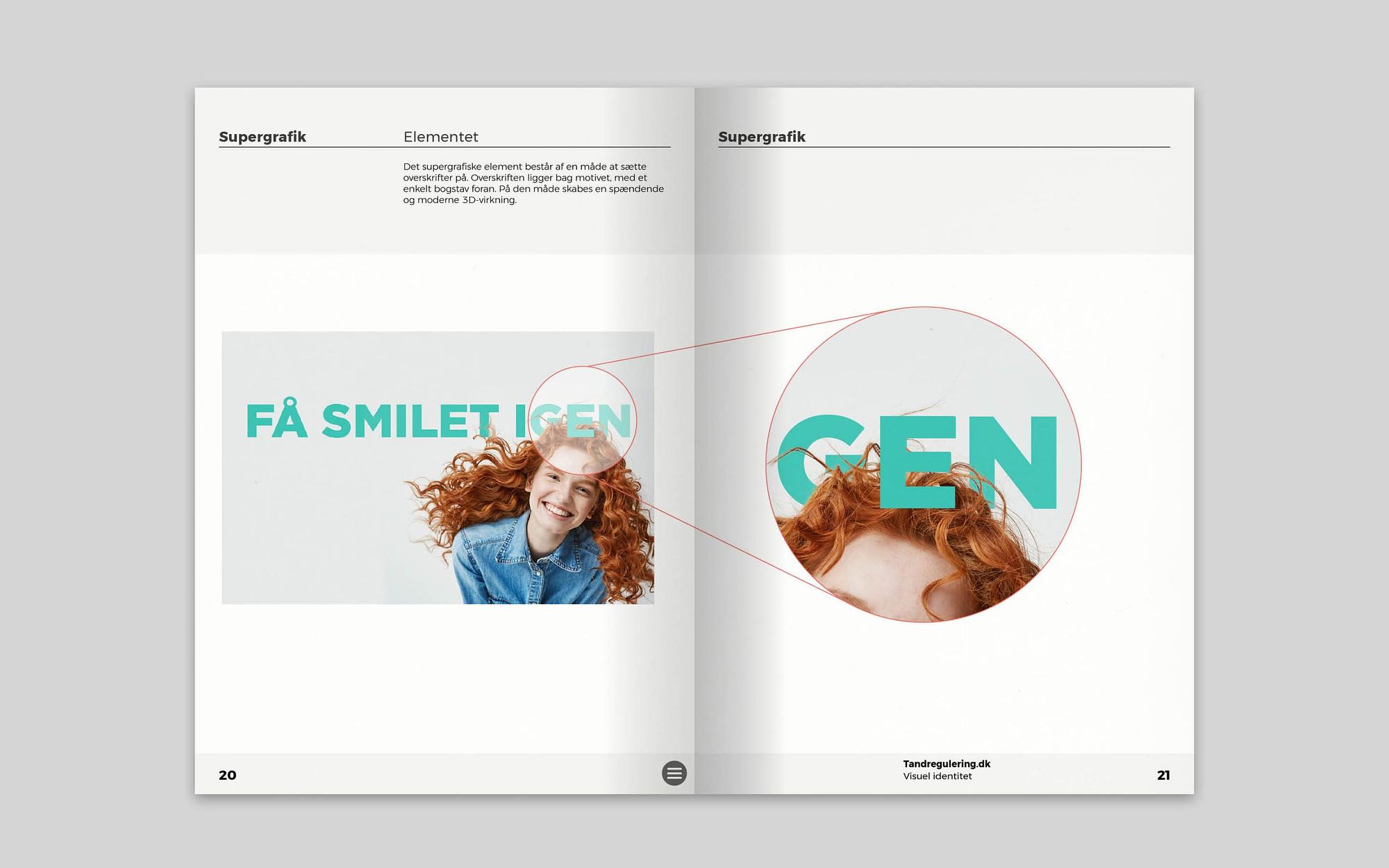 Overskrifter som en del af visuel identitet for Tandregulering.dk