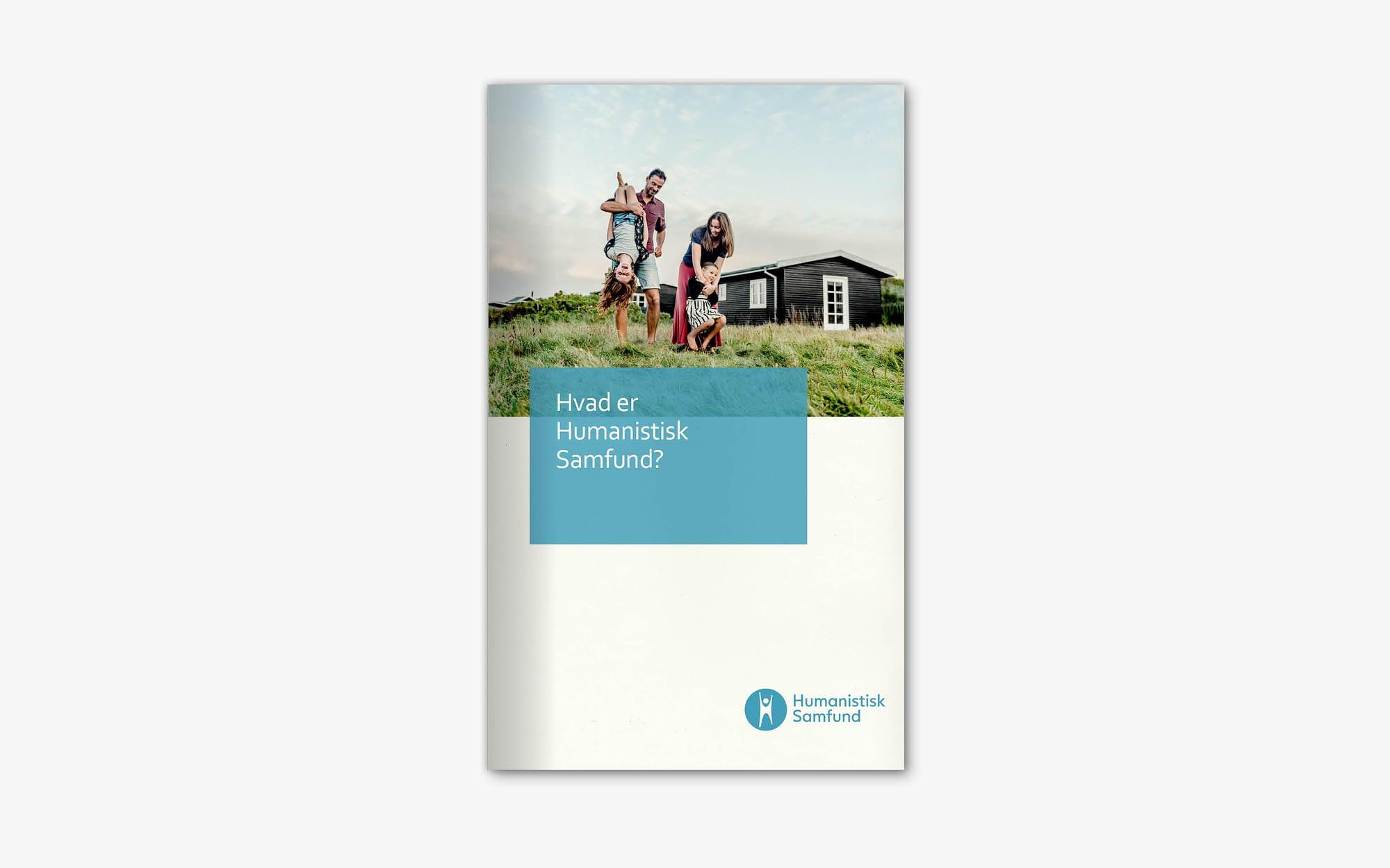 Brochuredesign som del af visuel identitet for Humanistisk Samfund